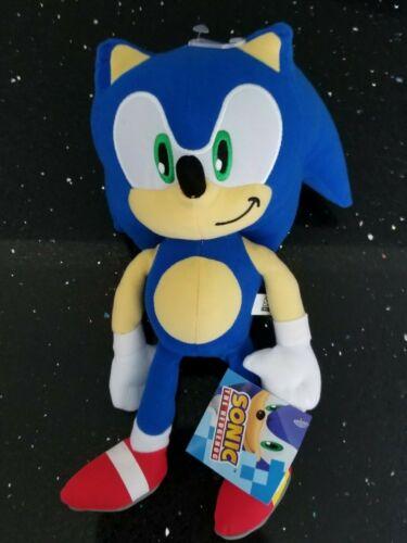 "NEW! Sonic the Hedgehog Large 12"" Plush Stuffed 2018 Edition Authentic SEGA Toy"