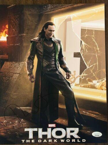 Thor Tom Hiddleston Loki Autographed Signed 11x14 Photo JSA COA #1