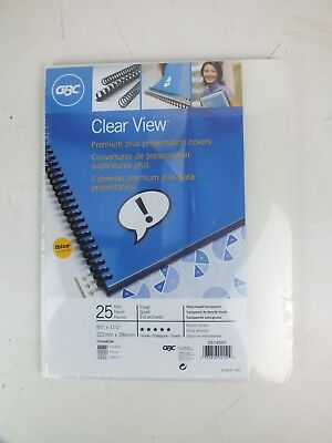 Gbc Clearview Presentation Covers Premium Frosted Binding Cover 25 Pieces