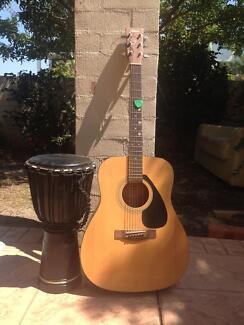 Yamaha guitar & djembe
