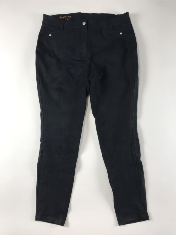 Ariat Mens Riding Breeches 30 Long Black Cotton blend stretch Equestrian Z29