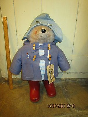 Vintage 1972 Gabrielle Designs 18 in. Paddington Bear with red Dunlop boots