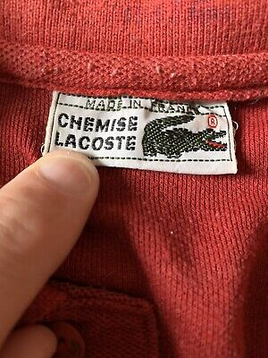 LACOSTE SPORT POLO SHIRT, DEVANLAY. SIZE - 5 / LARGE, RED