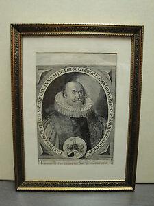Georgius Abraham Poehmer  1654 Kupferstich gerahmt hinter Glas
