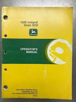 A62583 John Deere 1520 Integral Grain Drill Operators Manual