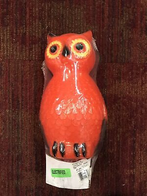 """HALLOWEEN Owl Blow Mold Union Products 13"""" Tall Original Package vintage"""
