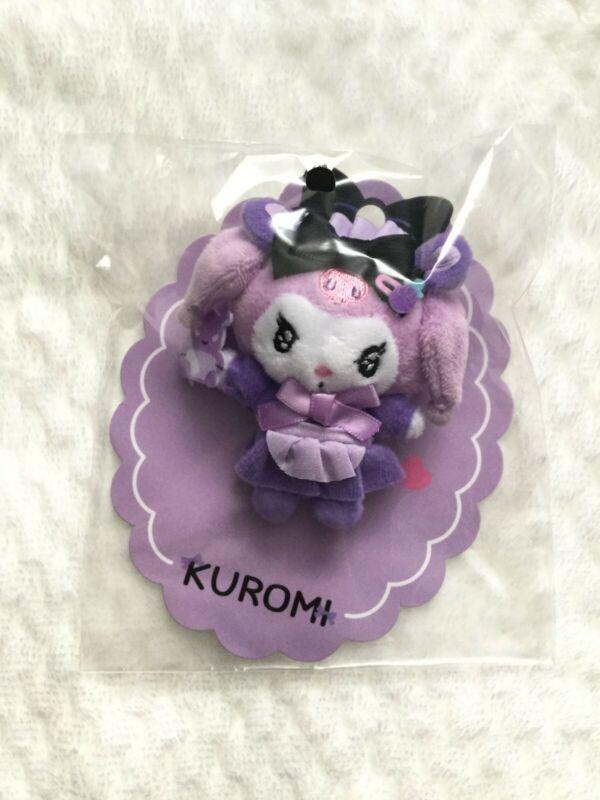 Kuromi Tsundere Cafe Mascot Brooch Dere Dere Plush Pin - Sanrio NEW