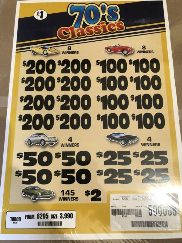 Pull Tabs (70's Classics ) Huge Profit $1000