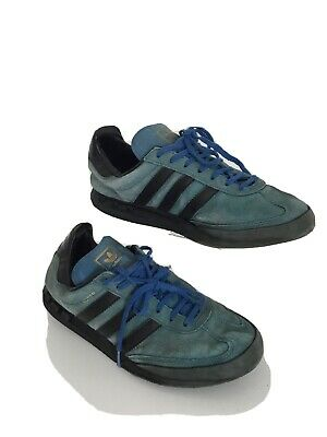 Mens Vintage Retro Adidas Kegler Super Blue Suede Sneakers Trainers Uk8 Preowned