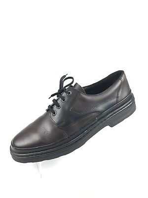 Eyelet Lace Up Mens Dress (Rieker Men's Size 9.5 Brown Black Leather Lace Up 4 Eyelet Dress Shoes)
