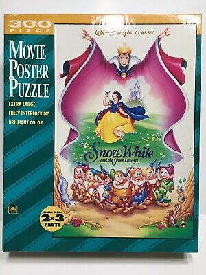 Disney Snow White Movie Poster Puzzle Large Kids Floor Jigsaw Vintage 90s Golden