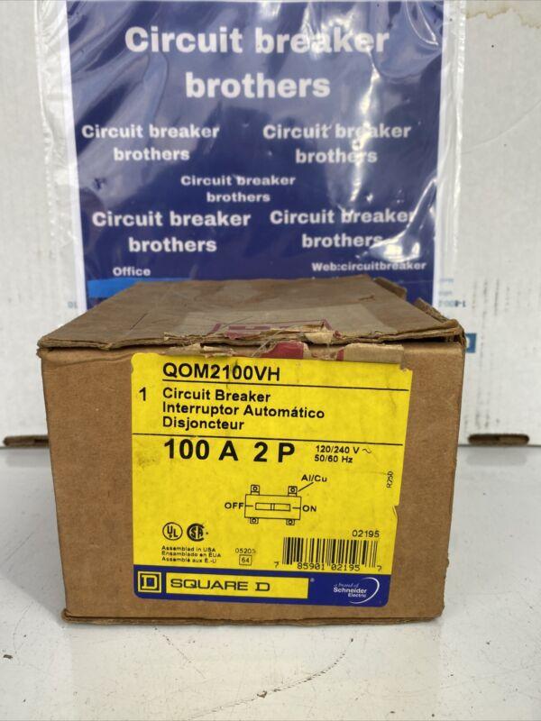 Square D QOM QOM2100VH 100 Amp 240 Volt 2 Pole Circuit Breaker New in box