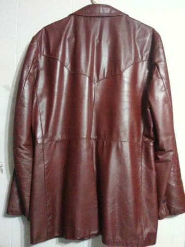 Vintage 70s Sears THE LEATHER SHOP Red Men