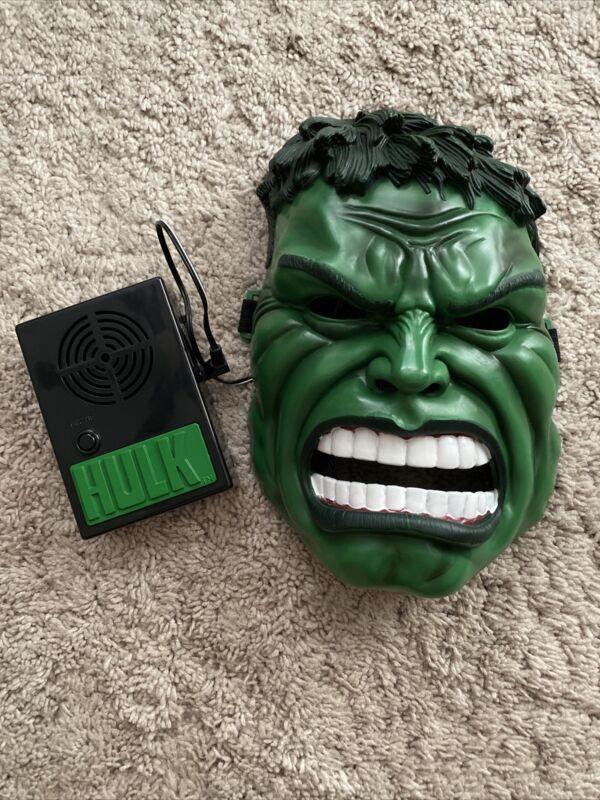 Electronic HULK Voice Changing Mask 2003 Toy Biz In Box