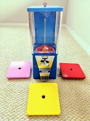 Oak Blue Bulk Vending Machine Gumball Candy Toy. Refurbished Tested.1 Wheellid.