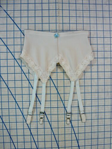 PERMA-LIFT vintage 60s young miss GARTER BELT chrome hardware stretchy S