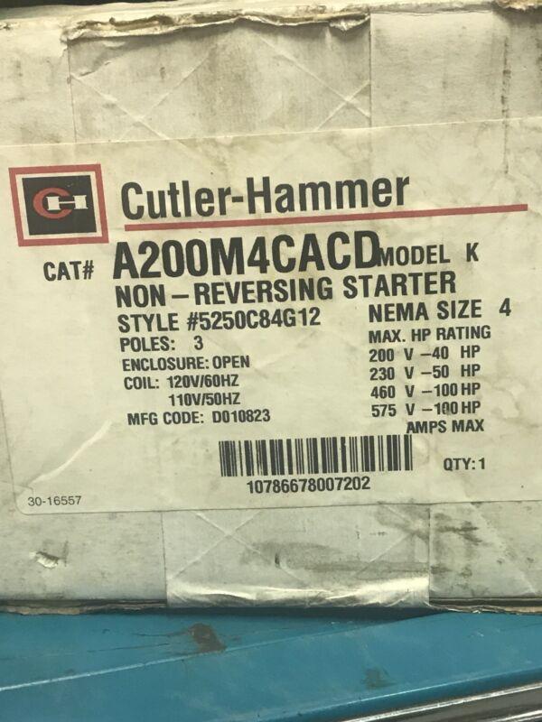 Cutler Hammer Motor Starter A200 M4cacd
