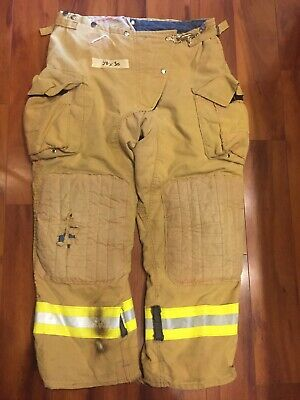 Firefighter Honeywell Morning Pride Turnout Bunker Pants 38x30 Costume Used