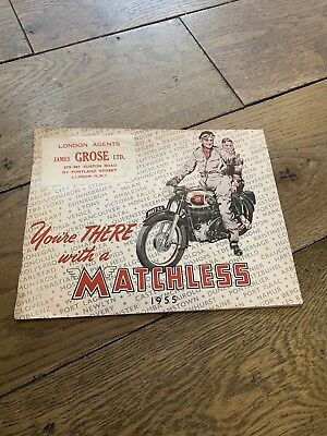 1955 Matchless Motorcycle Sales Catalogue G9 G3 LS G45 G3 350 500  G80 Model 55