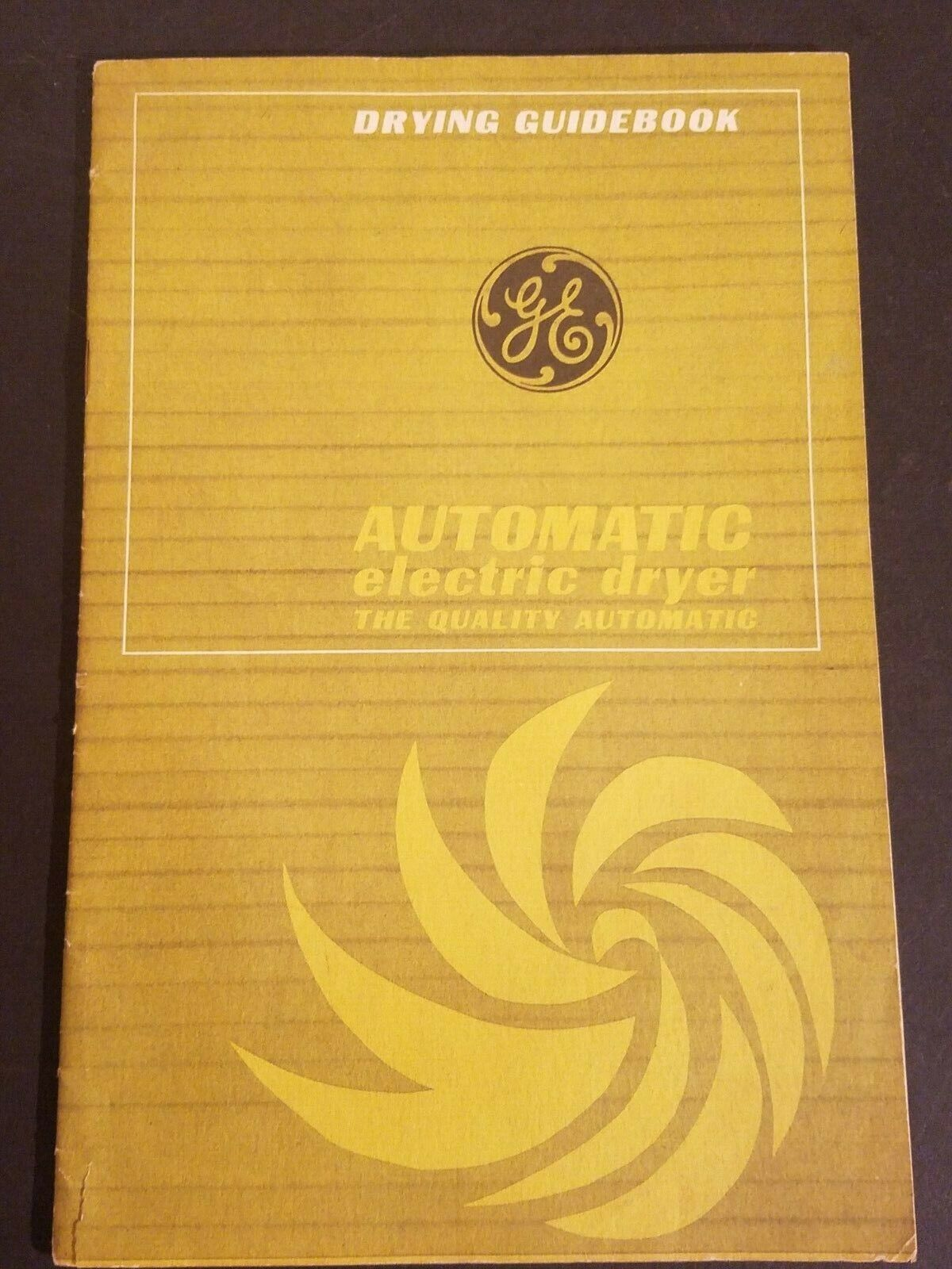 Vintage GE Automatic Electric Dryer Drying Guidebook