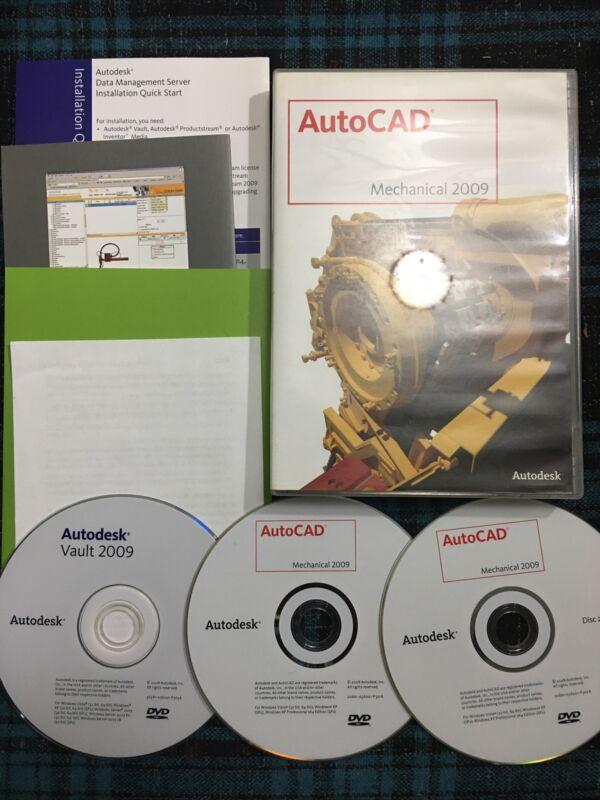 Auto Cad Mechanical 2009 Auto Desk 3 Discs Used Software