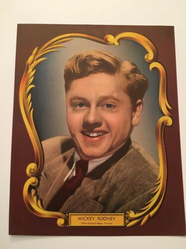 S10) Vintage Mickey Rooney Actor Metro-Goldwyn-Mayer 8x10 Publicity Photograph