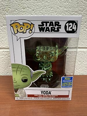 Yoda 124 Star Wars 2019 Summer Convention Limited Exclusive Funko POP! New NIB