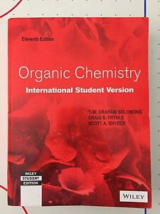 ORGANIC CHEMISTRY 11th Edition by Solomons and Fryhle