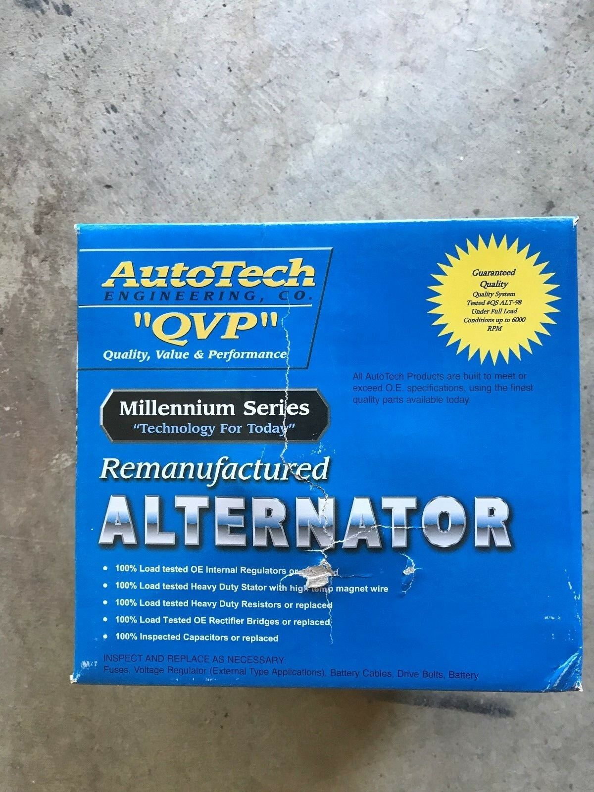 Autotech Re-manufactured Alternator Millennium Series 7861-7 1