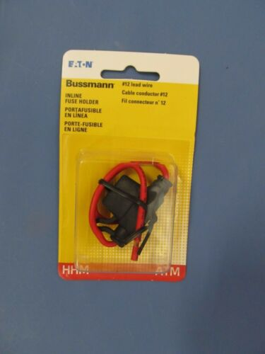 Bussmann BP/HHM-RP  Inline Fuse Holder Blade Fuse  #12 Lead wire   NEW