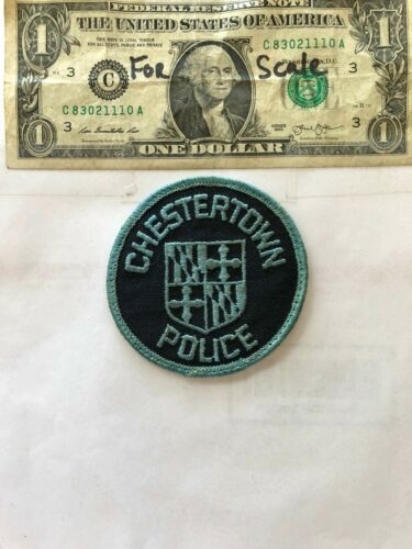 Rare Chestertown Maryland Police Patch pre-sewn good shape