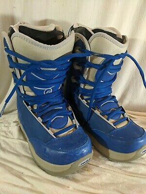Womens Ride Base Blue Snowboard Boots Size 7