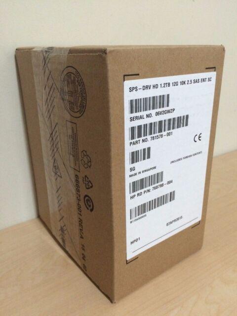 HP 781518-B21 | 781578-001 | 1.2TB 12G SAS 10K RPM SFF 2.5 INCH SC ENT HDD