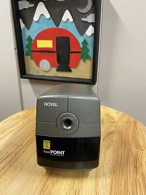 Royal Power Point Electric Pencil Sharpener With Auto Stop Office School