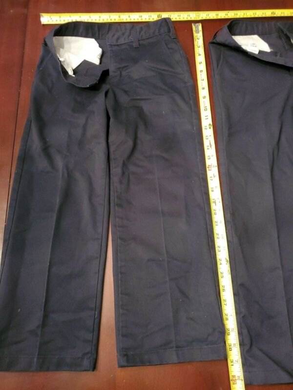 Lot Of 6 Navy Uniform Pants Size 9 R and 10 R