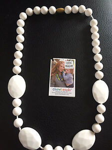 """Adult Necklace/Teething Silicone """"Chew Beads"""" w/ Tag"""
