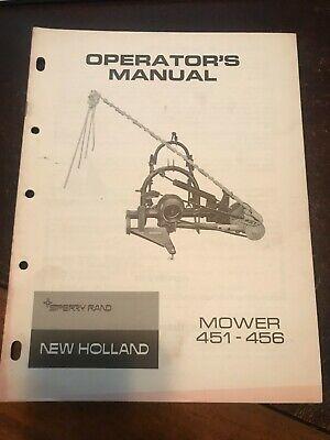 New Holland Operators Manual Mower 451-456