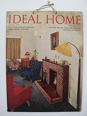 VINTAGE PROMOTIONAL ADVERTISING for IDEAL HOME MAGAZINE 1956