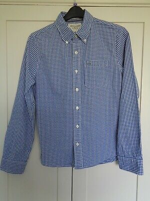 ABERCROMBIE & FITCH Men's Shirt. Blue/White Check. Muscle. Button Down Collar.M.