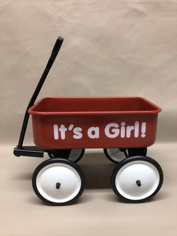 """""""It's A Girl!"""" Red Wagon By Teleflora, Excellent Condition"""