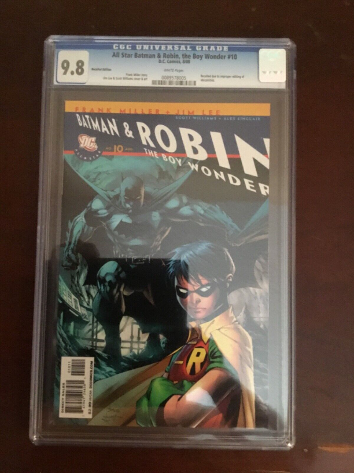 All Star Batman Robin, The Boy Wonder 10 CGC 9.8 Recalled Edition - $75.99