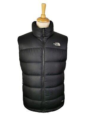 The North Face Mens Black Nuptse 700 Down Fill Gilet Bodywarmer Vest, Small