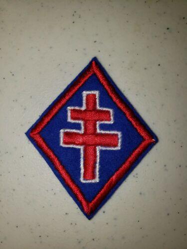 K1059 WW2 France French Sleeve Patch Cross of Lorane Free French L3B