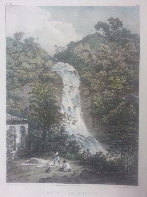 BRAZIL Rugendas Johnann Moritz 1835 Casade de Tijucca. Rio janeiro