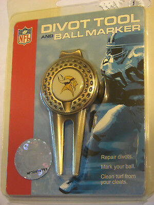 Minnesota Vikings Divot Repair Tool & Ball Marker Set - NFL ()