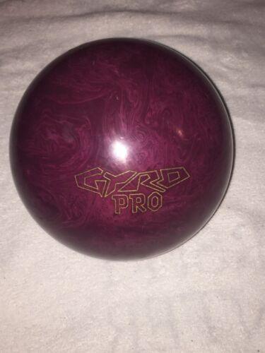 """""""Ebonite Gyro Pro Bowling Ball 15 Lbs 10 Oz Wine Red 5 1/2"""""""" Span Single Drill"""""""