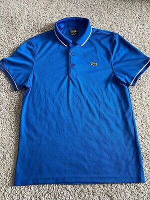 Lacoste Sports Mens Blue Short Sleeve Polo Size 4