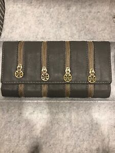 Portefeuille Tory burch gris