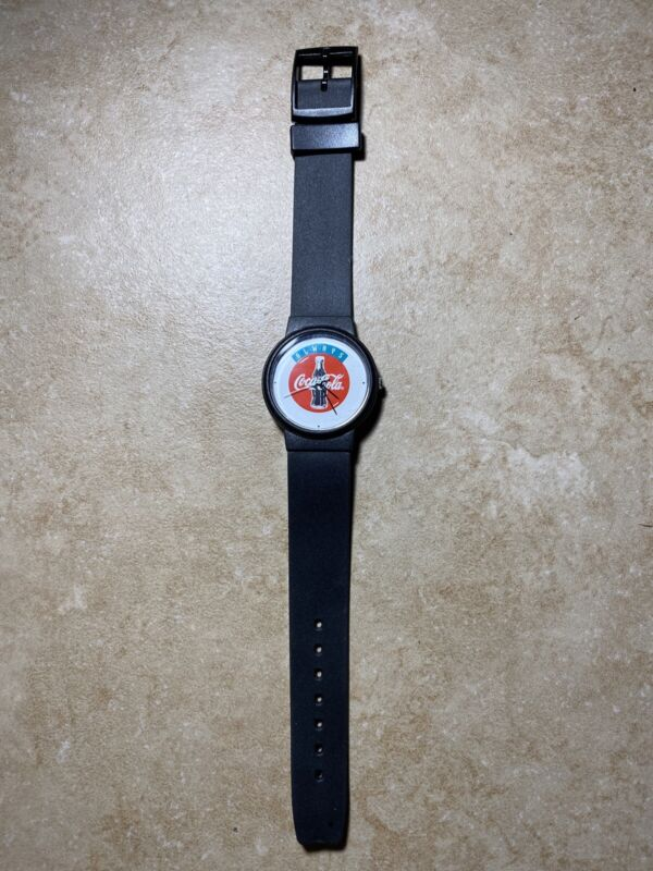 Vintage Collectible Verco Holland Always Coca Cola Watch - Black