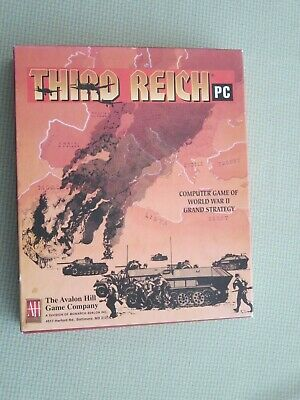 Computer Games - Third Reich - Avalon Hill  PC Computer Game - World war II Strategy Game